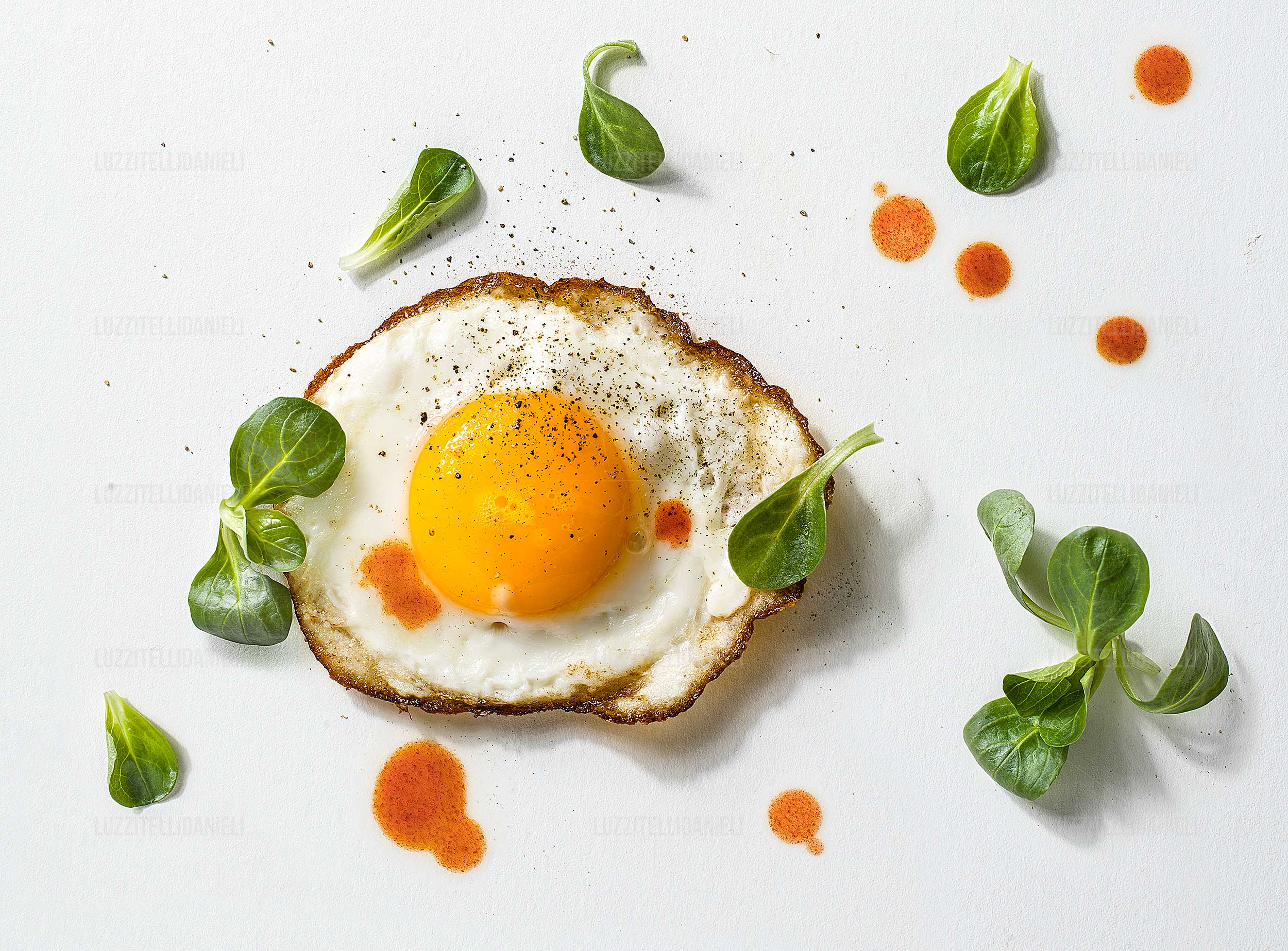 egg salad and tabasco - riso valeriana e tabasco